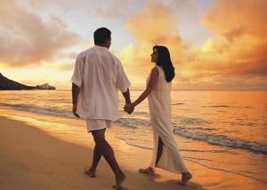 zaljubljenci na obali